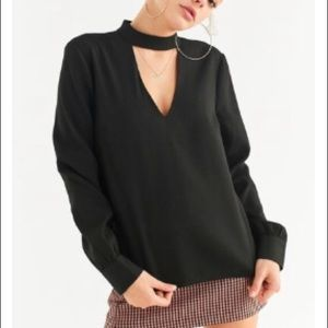 UO Cut-Out Collar Blouse